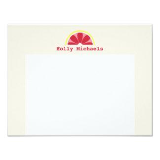 """Notecard plano personalizado pomelo invitación 4.25"""" x 5.5"""""""