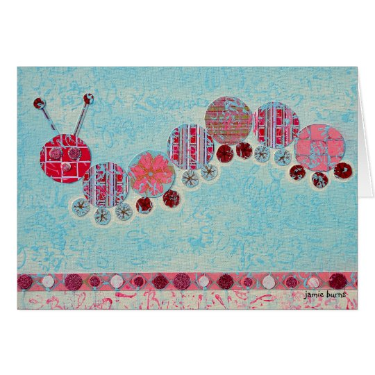 Notecard: Playful Caterpillar Card