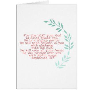 notecard poderoso del salvador felicitacion