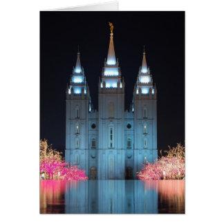 Notecard reflejado templo tarjeta pequeña