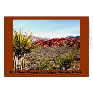 Notecard rojo #2 del barranco de la roca felicitación