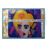 NOTECARD-SHE HAD UNRESOLVED LEFT BRAIN/RIGHT BRAIN STATIONERY NOTE CARD