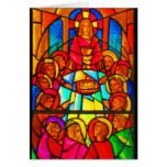Notecard-Stained Glass-38 Greeting Card