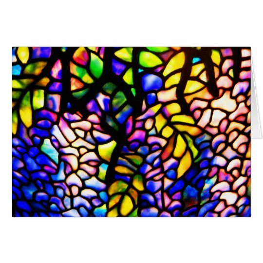 Notecard-Stained Glass-Tiffany 4 Card