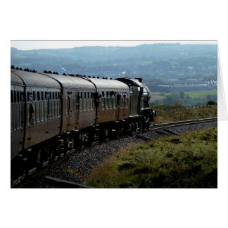 Notecard: Steam Train in Yorkshire Stationery Note Card
