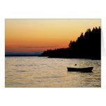 Notecard Stonington, puesta del sol de Maine Tarjeta Pequeña