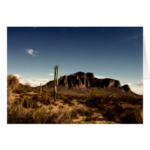 Notecard Superstition Mountains Arizona