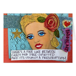NOTECARD-THERE'S A FINE LINE BETWEEN FREE-SPIRITED STATIONERY NOTE CARD