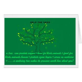 notecard to create social awareness