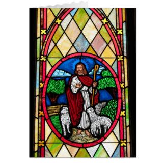 Notecard: Ventana en la iglesia metodista, Longton Tarjeta Pequeña
