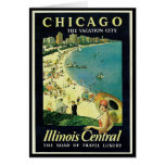 Notecard-Vintage Chicago Travel Art-2 Greeting Cards