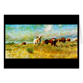Notecard-Vintage Dallas Artwork-Frank Reaugh 3 Card