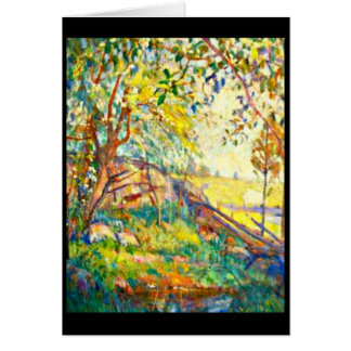 Notecard-Vintage Dallas Artwork-Lucien Abrams 2 Stationery Note Card