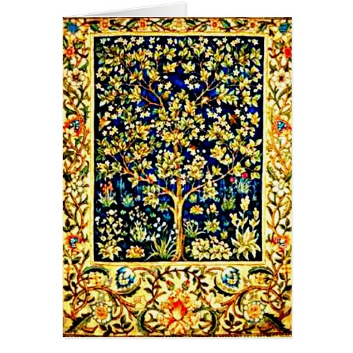 Notecard-Vintage Fabric/Fashion-William Morris 9 Stationery Note Card