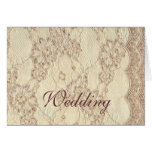 Notecard - Vintage Wedding Lace Stationery Note Card