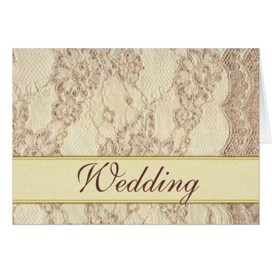 Notecard - Vintage Wedding Lace