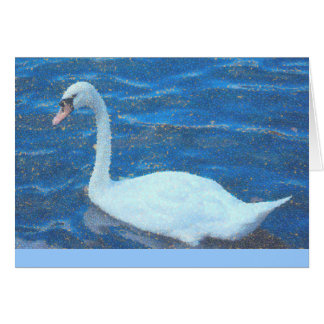 notecard, White Swan, Manipulated Photo, blank ins Stationery Note Card