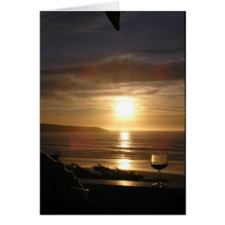 Notecard - Wine at sunset Stationery Note Card