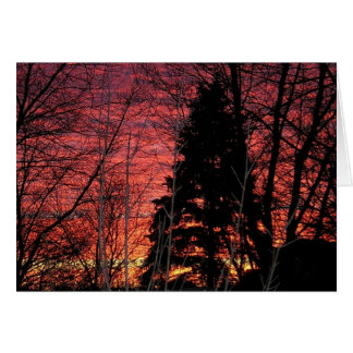 Notecard with Gorgeous Sunset