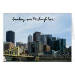 Notecards del amor de Pittsburgh Tarjeta Pequeña