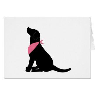 Notecards negros del labrador retriever tarjeta pequeña