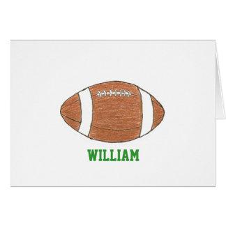Notecards personalizados del tema del fútbol con tarjeta pequeña