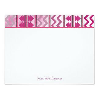 """Notecards plano inspirado tribal invitación 4.25"""" x 5.5"""""""