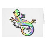 Notecards psicodélicos del Gecko Felicitaciones