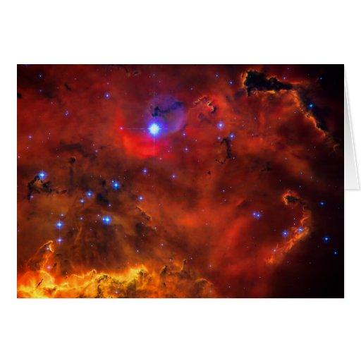 Notelet en blanco - nebulosa de la emisión en tarjeta pequeña