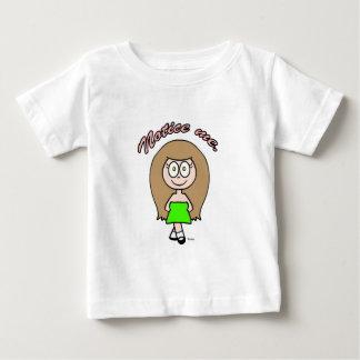 Nóteme brunette lindo del marrón del chica playera de bebé