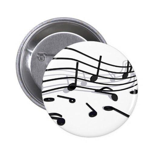 Noten, Musik Pin Redondo 5 Cm