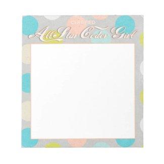 Notepad - All Star Coder Girl