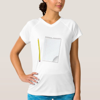 Notepad And Pencil Womens Active Tee