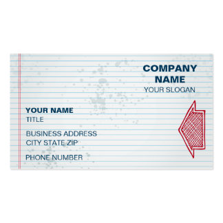 Notepad design with blue background business cards