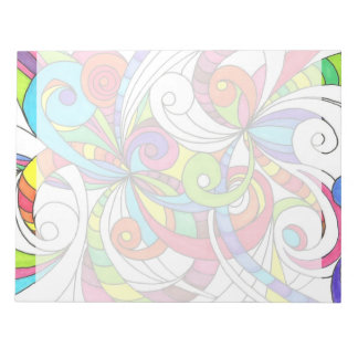Notepad Floral abstract background