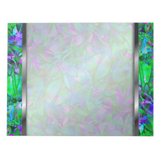 Notepad Floral Abstract Stained Glass