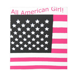 Notepad for girls with patriotic theme