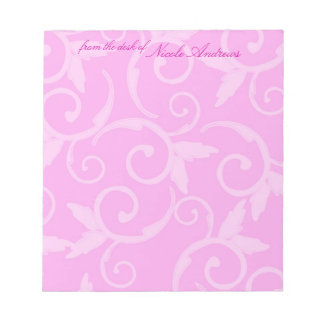 Notepad - Girly Swirl