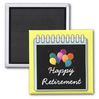 "Notepad: ""Happy Retirement"" note 2 Inch Square Magnet"