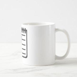 Notepad notes pencil coffee mugs