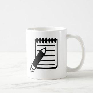 Notepad notes pencil mug