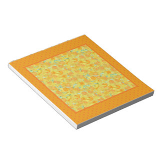 Notepad or Jotter, Golden Daffodils, Polka Dots