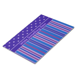 Notepad or Jotter: Personalize Stripes, Polkas