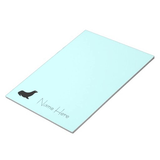 Notepad - Seal silhouette with Name