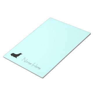 Notepad - Seal with Name on Blue