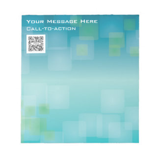 Notepad Template Blue/Green Generic