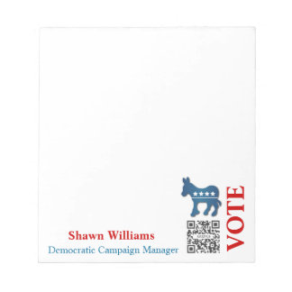 Notepad Template Donkey Democratic