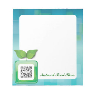 Notepad Template Natural Food