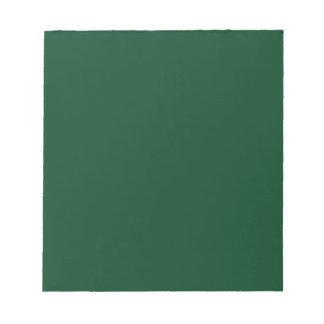 Notepad with Dark Evergreen Green Background