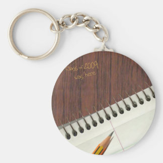 notepad with desk scratch keychain